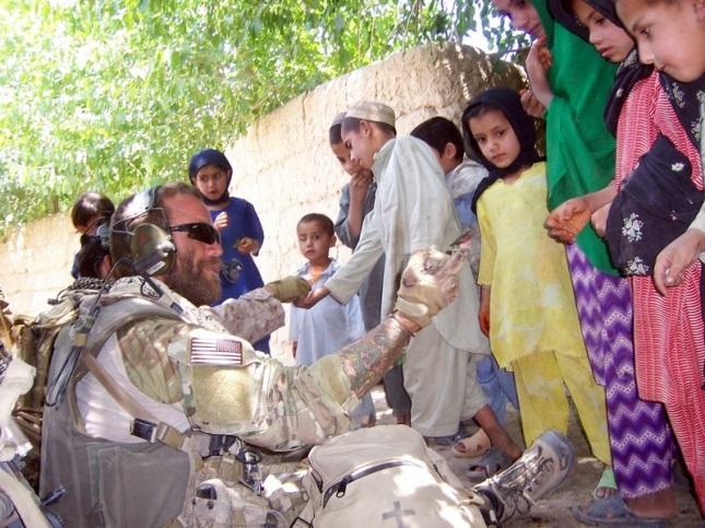 Jason w/ Afghani kids