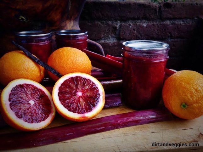 rhubarb vanilla blood orange jam 2